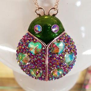 Betsey Johnson lady bug necklace